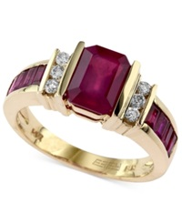 Effy Collection Effy Ruby 2 1 4 Ct. T.W. And Diamond 1 6 Ct. T.W. Ring In 14K Gold