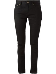 Saint Laurent Ripped Skinny Jeans Black