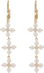 Cathy Waterman Women's Triple Daisy Drop Earrings No Color