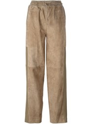 Joseph Relaxed Fit Straight Trousers Nude And Neutrals