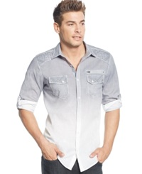 Inc International Concepts Dip Dyed Roll Tab Shirt Only At Macy's