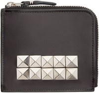 Comme Des Garcons Wallets Black Leather Studded Wallet