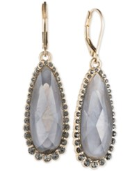 Lonna And Lilly Elongated Stone Drop Earrings Grey