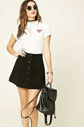 Forever 21 Love Patch Collared Top