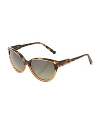 Jason Wu Anais Two Tone Tortoise Cat Eye Sunglasses Taupe Brown