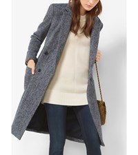 Double Breasted Tweed Wool Boucle Coat