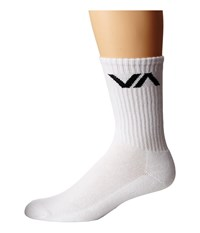 Rvca Va Sport Sock White Men's Crew Cut Socks Shoes