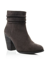 Vince Camuto Slouch High Heel Booties Charcoal Grey