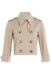 Michael Kors Collection Cotton Trench Jacket Camel