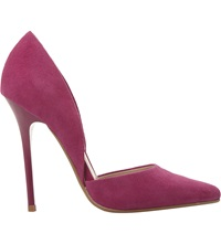 Steve Madden Varcitty Pointed Toe Court Shoes Fuschia Suede