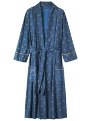 Toast Star Print Gown Navy Gold