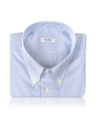 Del Siena Blue Check Dress Shirt