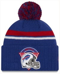 New Era Buffalo Bills Diamond Stacker Knit Hat Blue Red