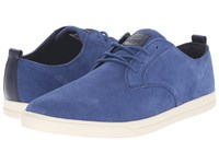 Clae Ellington Suede Midnight Suede Men's Lace Up Casual Shoes Navy