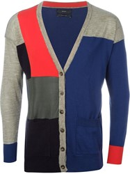 Diesel Colour Block Cardigan Blue