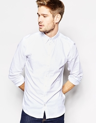 Solid Solid Tailored Oxford Button Down Shirt White
