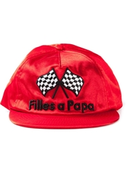 Filles A Papa Embroidered Race Flag Cap