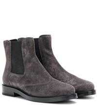Tod's Suede Chelsea Boots Grey