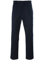 Marni Turn Up Hem Trousers Blue