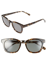 Raen 'Suko' 48Mm Retro Sunglasses Brindle Tortoise Gold Silver