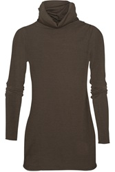 Enza Costa Cashmere Turtleneck Sweater Brown