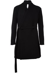 Damir Doma Belted Wrap Coat Black