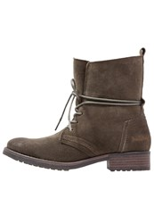 Dockers By Gerli Laceup Boots Khaki