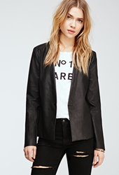 Forever 21 Faux Leather Shawl Collar Blazer
