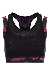 Ivy Park Double Layer Camo Bra By Burgandy