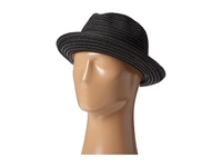 Scala Toyo Braided Fedora With Black Band And Contrast Stitch Black Fedora Hats