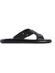 Alexander Mcqueen Studded Sandals Black