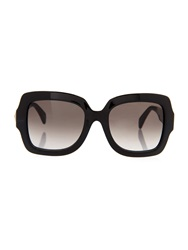 Valentino Rockstud Oversized Square Framed Sunglasses