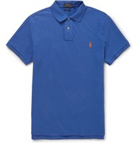 Polo Ralph Lauren Lim Fit Cotton Pique Hirt Royal Blue