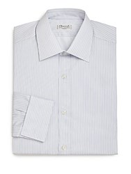 Charvet Regular Fit Striped Dress Shirt Blue
