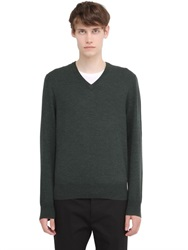 Brooks Brothers Saxxon Wool V Neck Sweater