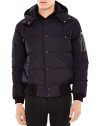 Sandro Hooded Puffer Coat Marine