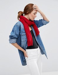 Lavand Knitted Scarf Red