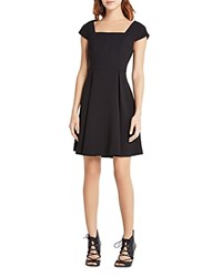 Bcbgeneration Square Neck Fit And Flare Dress Black
