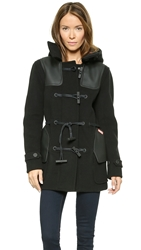 Hunter Original Belted Duffle Coat Black