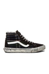 Vans California Sk8 Hi Reissue Over Washed Plaid Navy