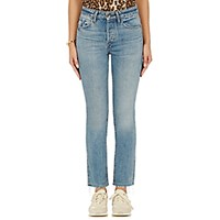 Helmut Lang Women's High Rise Crop Jeans Light Blue