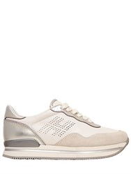 Hogan 50Mm H222 Leather And Suede Sneakers