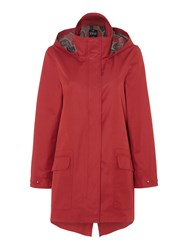 Tigi Contrast Lining Raincoat Red