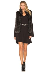 Bb Dakota Colton Faux Fur Vest Black