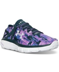 Under Armour Women's Speedform Fortis Gr Print Running Sneakers From Finish Line Exotic Bloom Batik Exotic