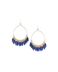 Fragments For Neiman Marcus Fragments Enamel Drop Hoop Earrings Blue