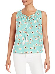 Collective Concepts Poppy Print Top Mint