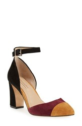Bcbgmaxazria Women's 'Billee' Colorblock Pump Cognac Port Suede