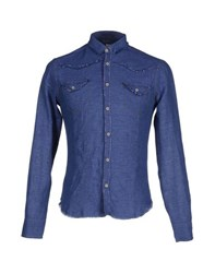 Paolo Pecora Shirts Shirts Men Dark Blue