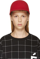 Etudes Studio Red Felted Wool Day Cap